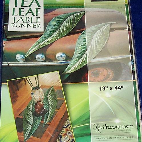 """Tea Leaf Tablerunner Judy Niemeyer Pattern 13""""X44"""""""