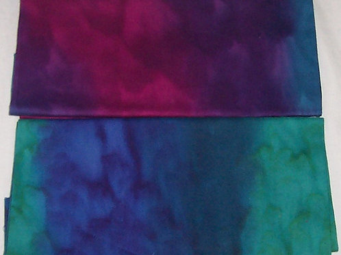 2 Hand-Dyed Fat Quarters
