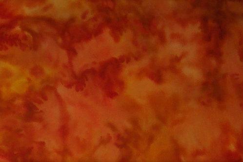 Batik Orange Gold Mix 7/8 Yard Fabric
