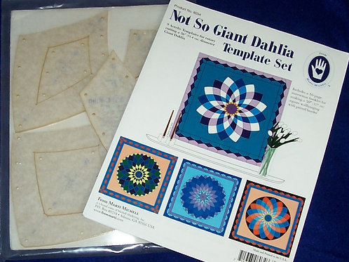 "Marti Mitchell Not So Giant Dahlia Template Set 50"" Square Wallhanging"