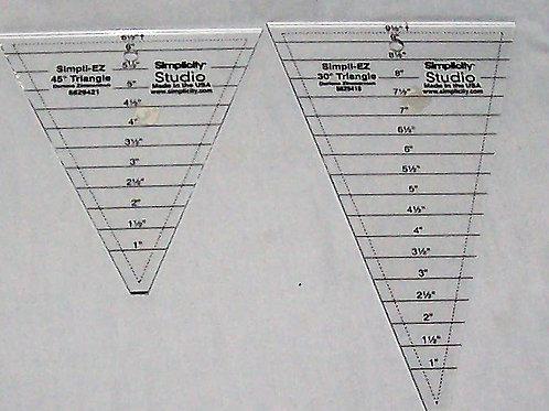 Simplicity Studio Simpli-EZ  30 and 45 Degree Triangles Darlene Zimmerman