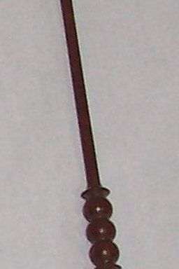 Vintage Brittany Wood Crochet Hook Walnut Size D (3.25mm) 7""
