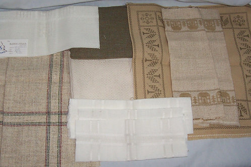 Lot of 11 Cross Stitch Fabric Pieces Various Colors and Size Needlepoint