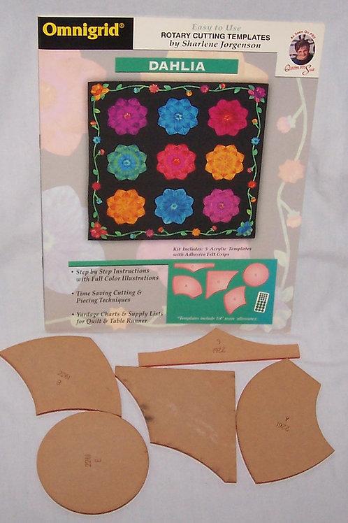 Dahlia Omnigrid Rotary Cutting Templates Sharlene Jorgenson w/Pattern Booklet