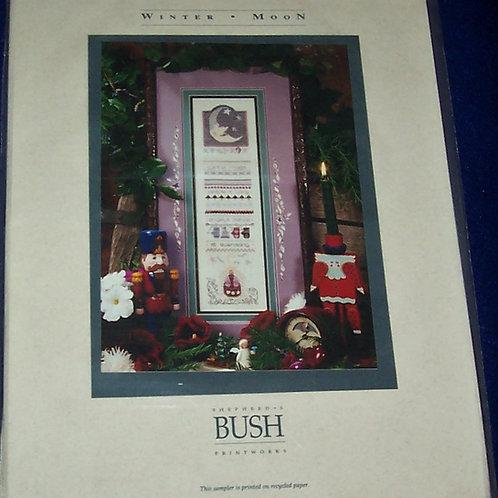 Cross Stitch Pattern Kit Winter Moon Sampler Shepherd's Bush