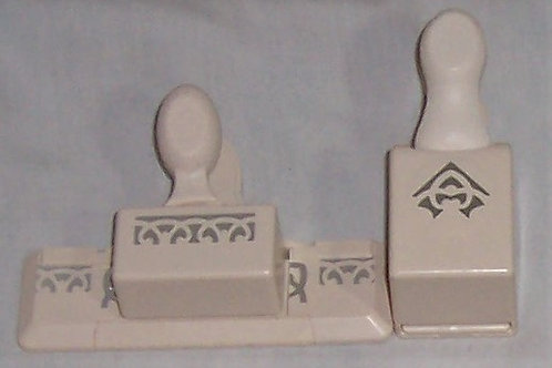 EK Success Martha Stewart Crafts Paper Punch Edge + Corner Set French Scroll