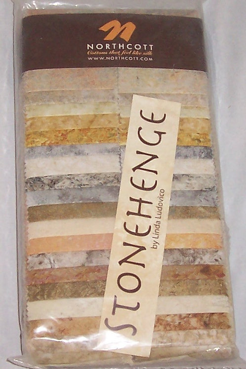 """Northcott Stonehenge 40 Stone Strips  2-1/2"""" Lt Nuetrals"""