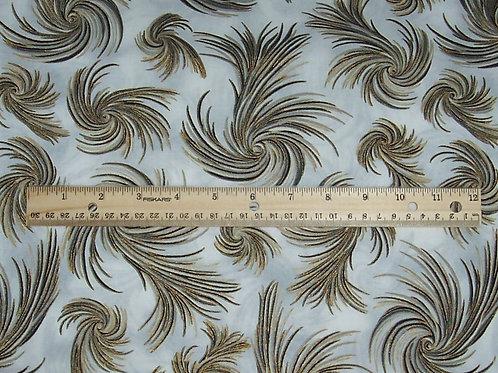 Robert Kaufman Oriental Traditions Metallic Gold 1-1/2 Yards Fabric