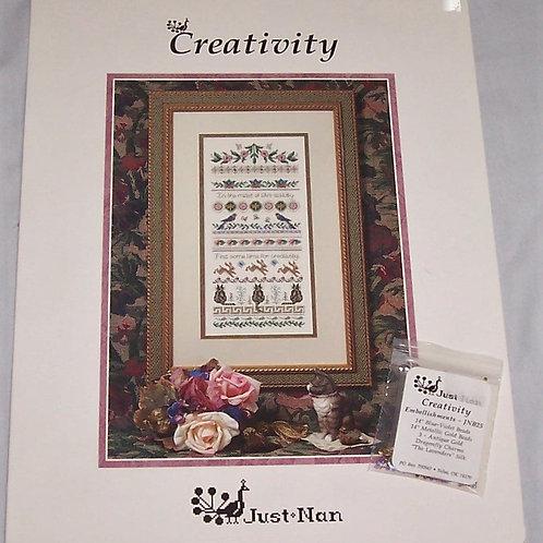 Cross Stitch Pattern Just Nan Creativity + Bead Pack Embellishments