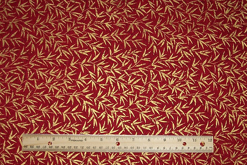 Artistic Expression Oriental Gardens Red with Metallic Gold Fabric