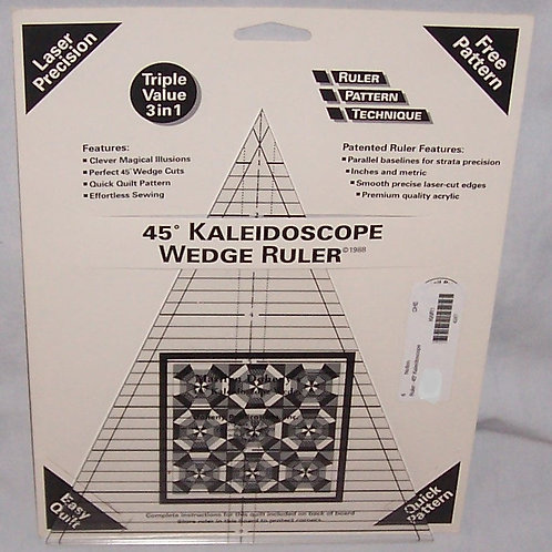 Marilyn Doheny Kaleidoscope 45 Degree Wedge Ruler 3 in 1