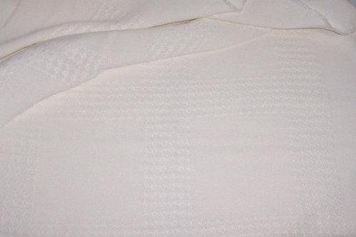 "Cross Stitch Afghan Fabric 56""X 51"" White"