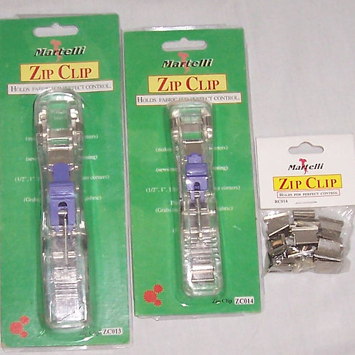 3 Martelli Zip Clips ZC013 18 Large - ZC014 16 Medium and Package RC014