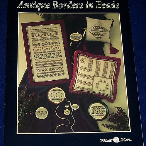 Cross Stitch Pattern Mill Hill Antique Borders in Beads Stitch Chart