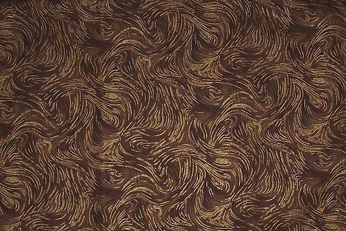 P&B Textiles Spellbound Brown with Metallic Gold