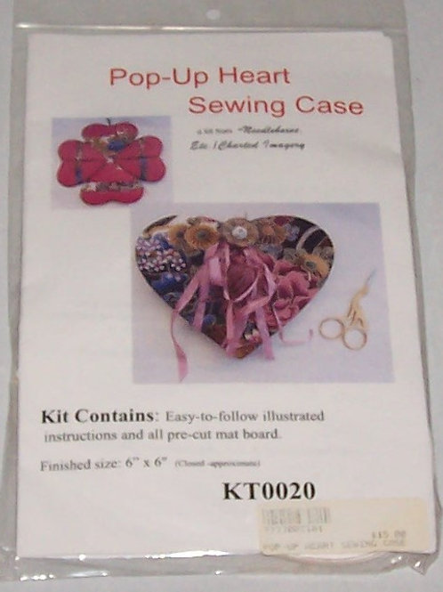 "Needlebox Kits Pop-Up Heart Sewing Case Finished Size 6""X6"""