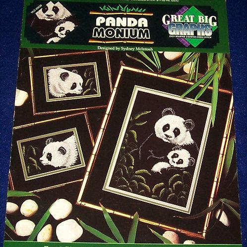 Cross Stitch Pattern Panda Monium sydney McIntosh