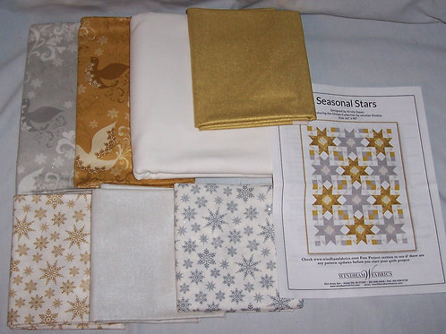 "Seasonal Stars Pattern and Fabric Kit 62""X80"" Kristy Daum Windham Fabrics"
