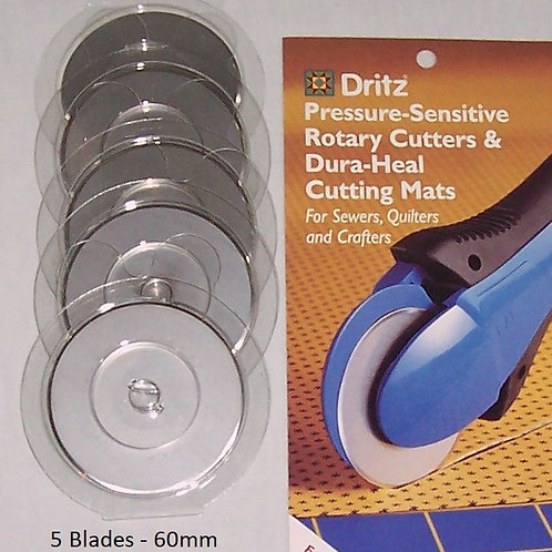 KAI Dritz Rotary Cutter Replacement Blades 5 Blades - 60mm