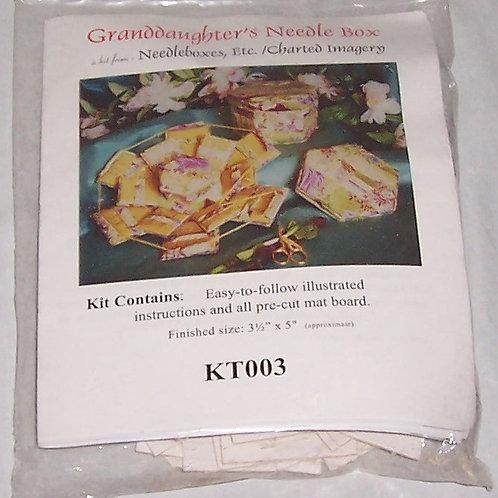 """Needlebox Kits Granddaugher's Needle Box Finished Size 3-1/2""""X5"""""""