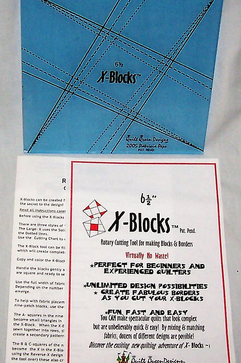 "Quilt Queen Designs 6-1/2"" X-Blocks Rotary Cutting Tool"