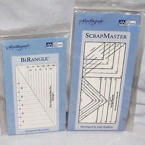 Martingale and Co. ScrapMaster Ruler by Judy Hopkins + BiRangle Mary Hickey