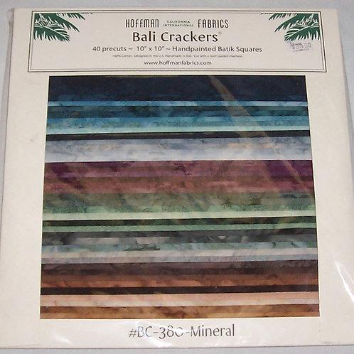 """Hoffman Batik Bali Crackers 380-Mineral 40 Pre-Cut Squares 10""""X10"""""""