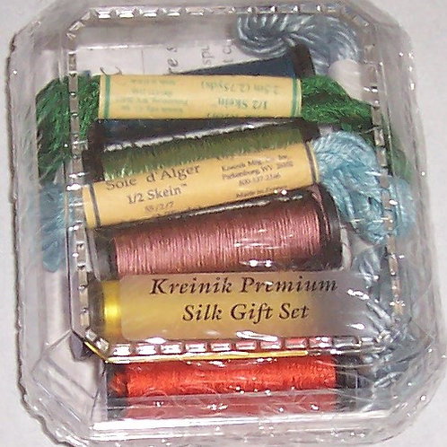 Kreinik The Premium Silk Gift Set 100% Pure Silk Threads Embroidery Cros