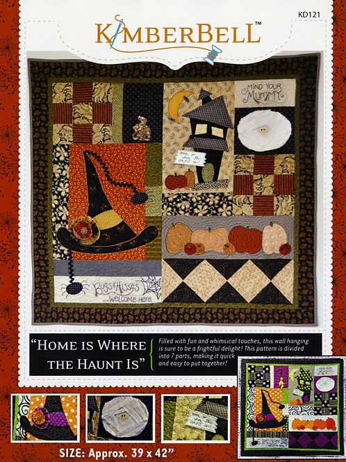 "Home is Where the Haunt Is Kimberbell Pattern 39""X42"" Halloween"