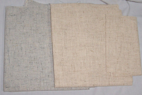 "Three - 26 & 27CT - 19"" X 54"" and 31"" X 38"" Cross Stitch Fabric Linen"