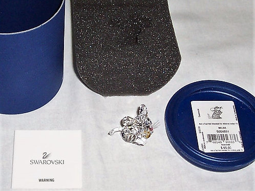 Mouse Holding Cheese Swarovski Crystal