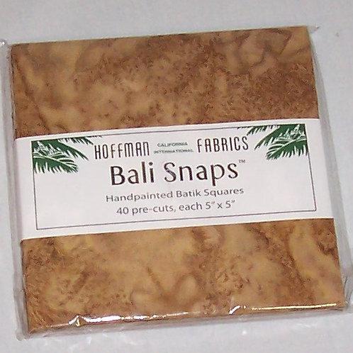 """Hoffman Bali Snaps #BS-606-Caramel 40 Squares 5""""X5"""" Handpainted Batik"""