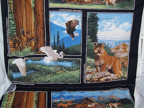 "Panel 68""X40"" Sequoia Tetons Cascade Range Everglades Grand Canyon"