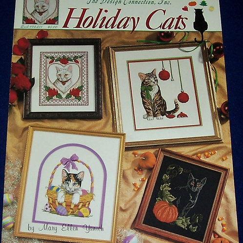 Cross Stitch Pattern Holiday Cats Mary Ellen Yanich Stitch Charts