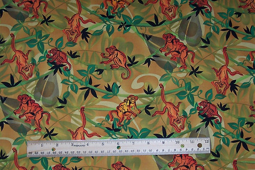 Elizabeth Studio Giva Rivas Design #1302 Monkey Fabric 1 Yard