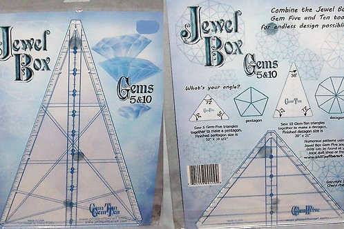 Phillips Fiber Art Two Jewel Box Gems 5&10 Triangle Tool + Moroccan Tile Pattern