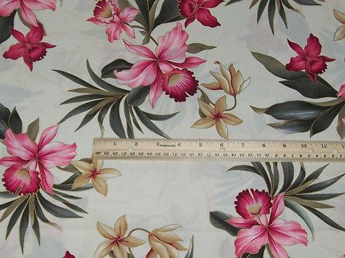 Trendex Hawaiian Floral Plumeria Pinks Q011 Fabric BTY