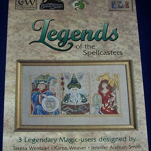 Cross Stitch Pattern Legends of the Spellcasters Wentzler Weaver Aikman-Smith
