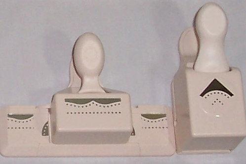 EK Tools Martha Stewart Crafts Paper Punch Edge + Corner Set Dotted Border Wing