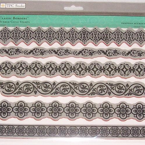 TPC Studio Classic Borders Rubber Cling Stamps