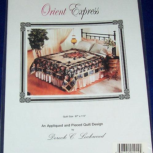 "Orient Express Dereck Lockwood Pattern 97""X115"" Applique and Striped P"