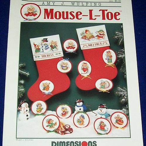 Cross Stitch Pattern Mouse-L-Toe Amy J. Wulfing Stitch Chart