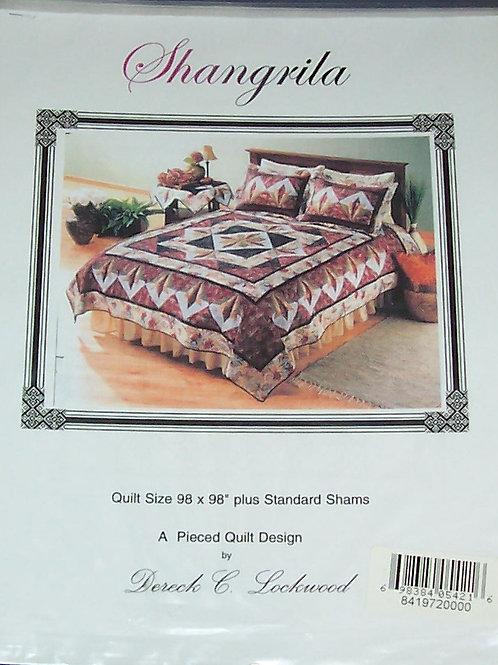"Shangrila Dereck Lockwood Pattern 98""X98"" A Pieced Quilt Design Plus Shams"