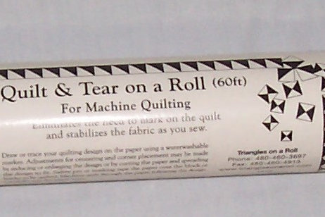 Quilt and Tear On A Roll 60ft For Machine Quilting