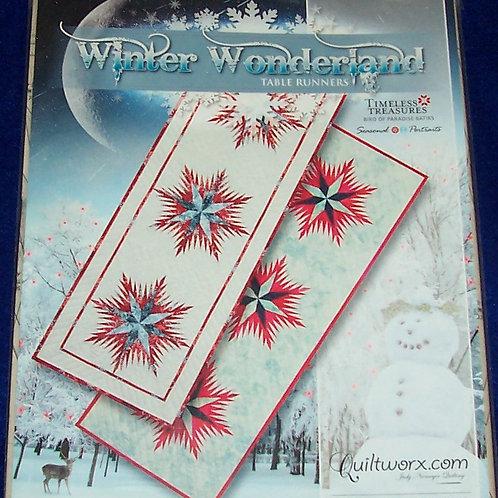 """Winter Wonderland Tablerunners Judy Niemeyer Pattern 17""""X49"""""""