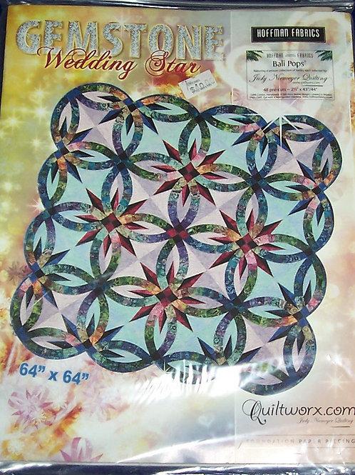 "Gemstone Wedding Star Judy Niemeyer Pattern 64""X64"""