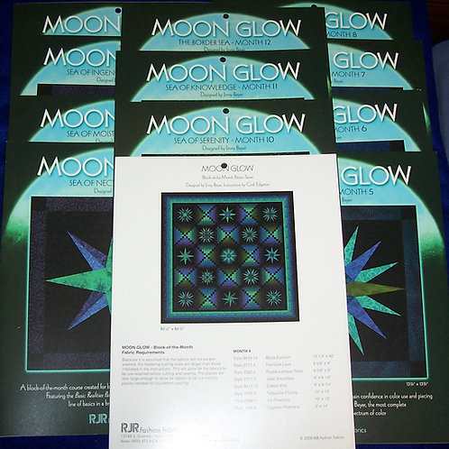 Moon Glow Jinny Beyer 12 Pattern Set Block of the Month Series
