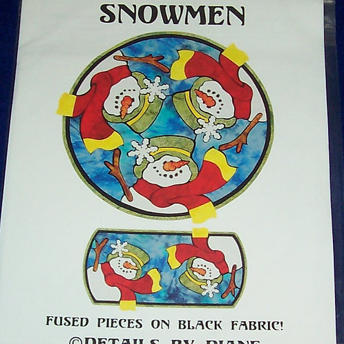 Snowmen Details by Diane Pattern Table Runner Round and Long