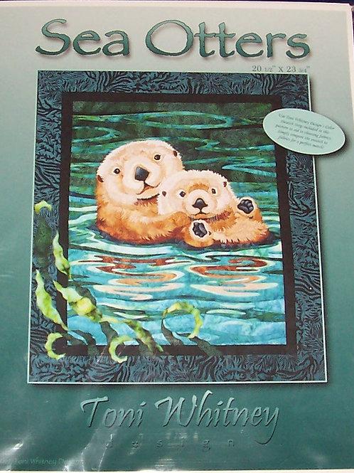 "Sea Otters Toni Whitney Design Pattern 20.5""X23.25"" Color Swatch Strip Inc"