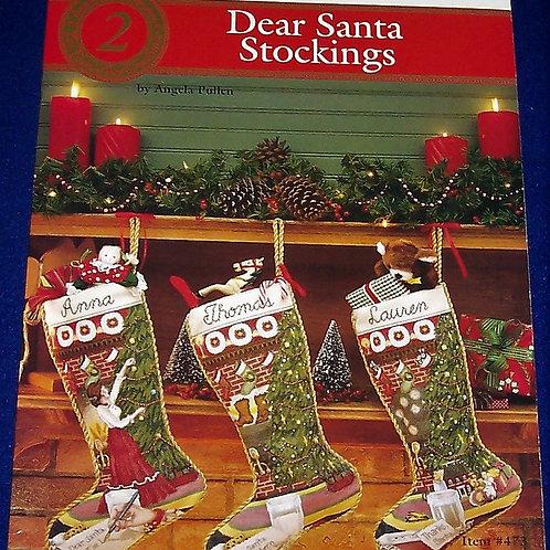 Cross Stitch Pattern Dear Santa Stockings Angela Pullen 3 Stitch Charts